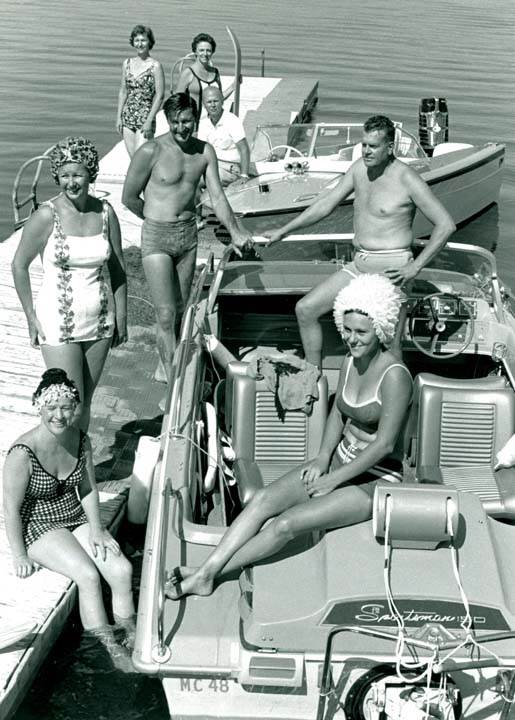 sunbathers at Lake Minnequa 1960s