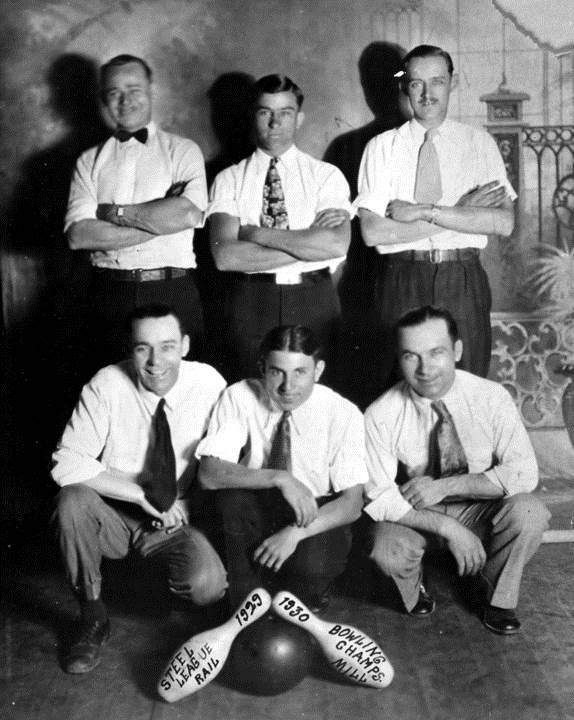 rail mill bowling champs 1930